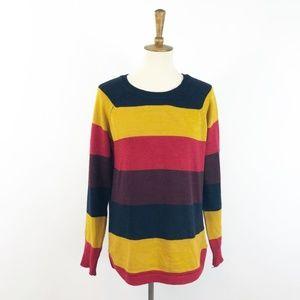 Lulu's RD Style Bold Harvest Stripe Slit Sweater